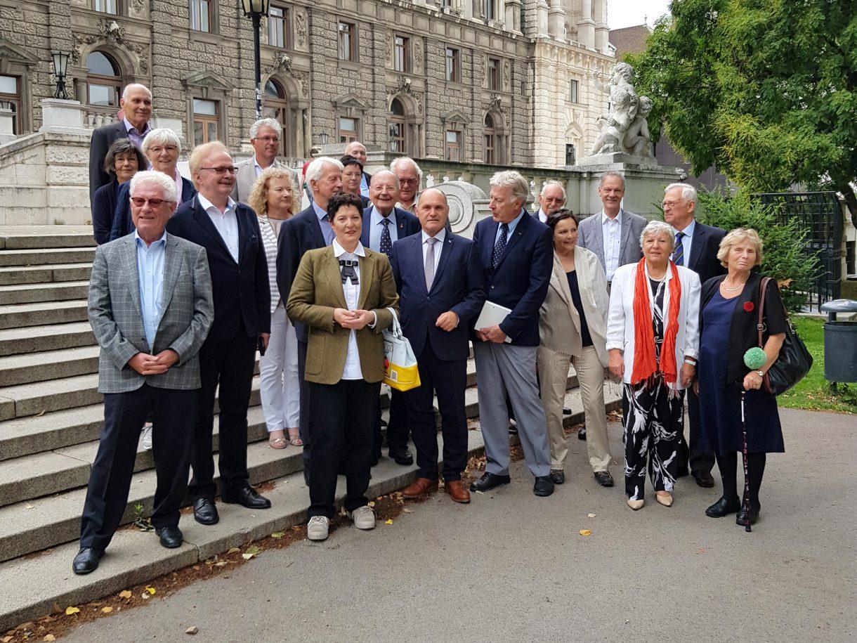 29.06.2018 Empfang im österreichischen Parlament Wien mit Präsident Sobotka
