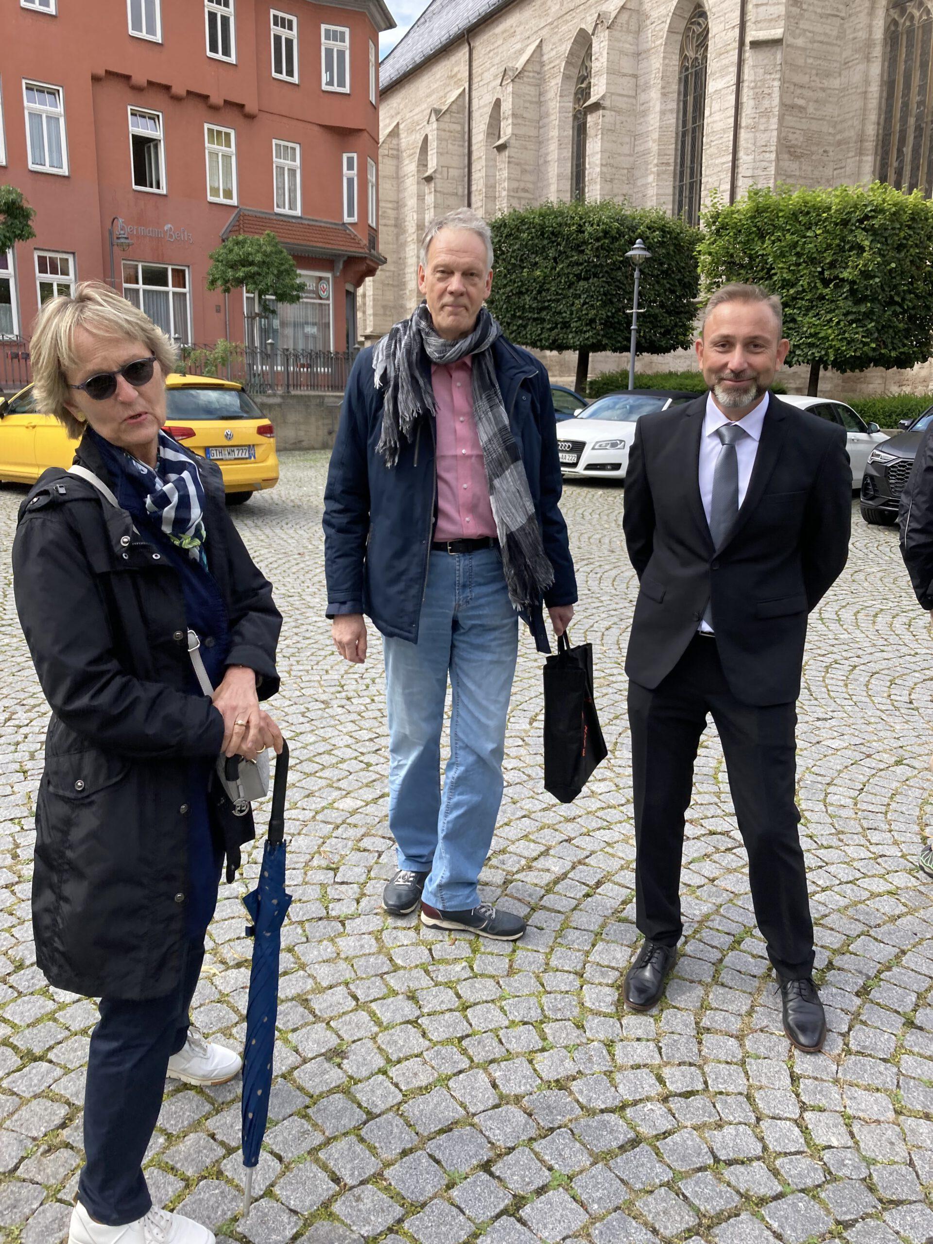 Bürgermeister Matthias Reinz, Bad Langensalza, mit Elke und Jürgen Naulin