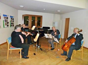 Kleines Hauskonzert vom Mozart-Quartett