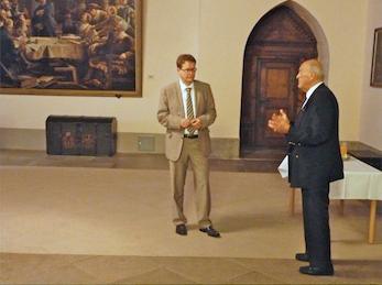 Empfang beim Oberbürgermeister der Stadt Mühlhausen, Herrn Johannes Bruns