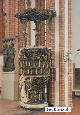 Kanzel der Nikolaikirche